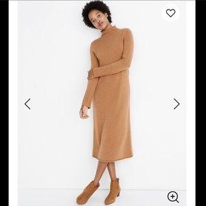 🆕 Madewell cashmere mockneck midi sweater dress